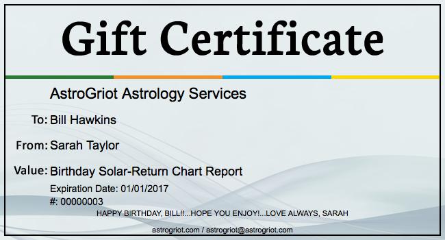 samples gift certificates